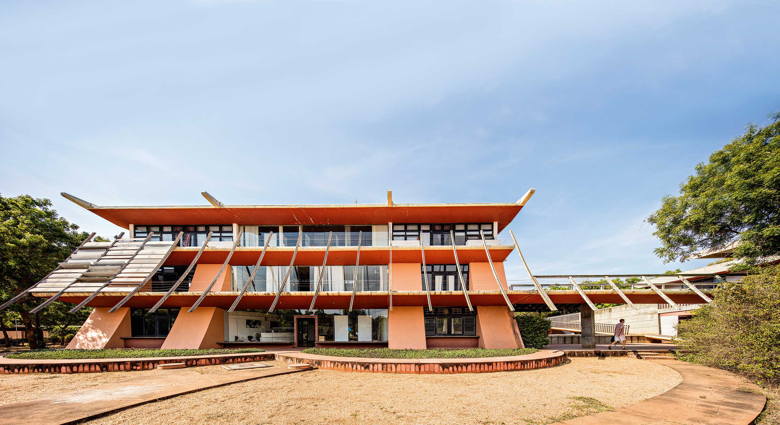 Town Hall in Auroville, India. Credit: Javier Callejas