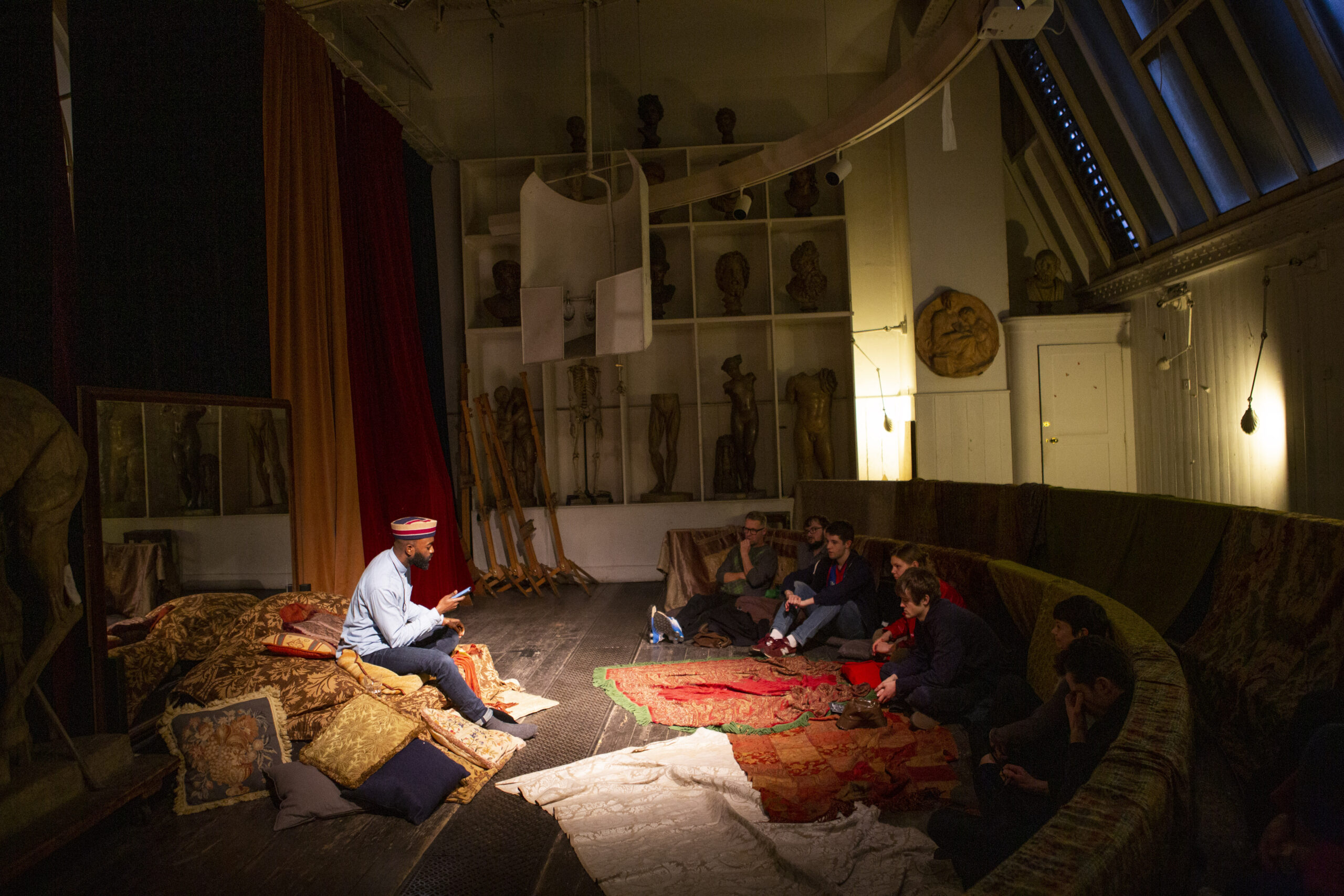 'Alternate Languages: Confronting Boundaries' at the Royal Academy of Arts, March 2019, Inua Ellams performing in the Life Drawing Room Credit: Yiannis Katsaris / Royal Academy of Arts