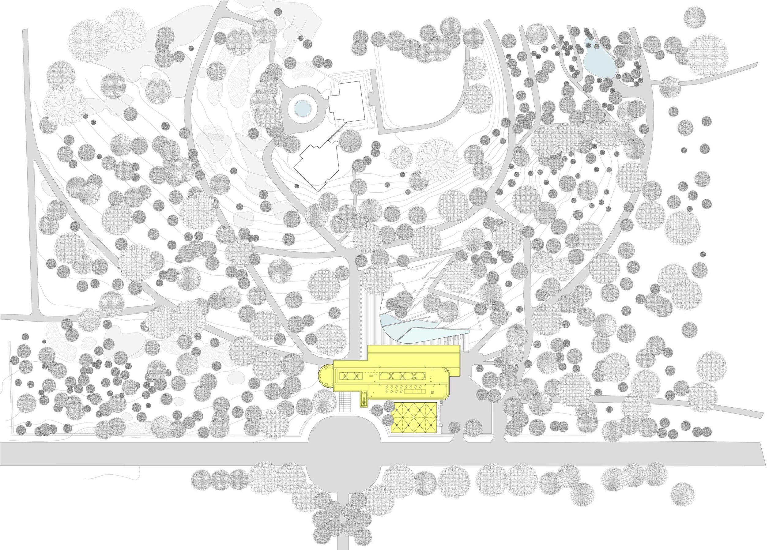 Site plan of the John Hope Gateway in Edinburgh's Royal Botanic Garden