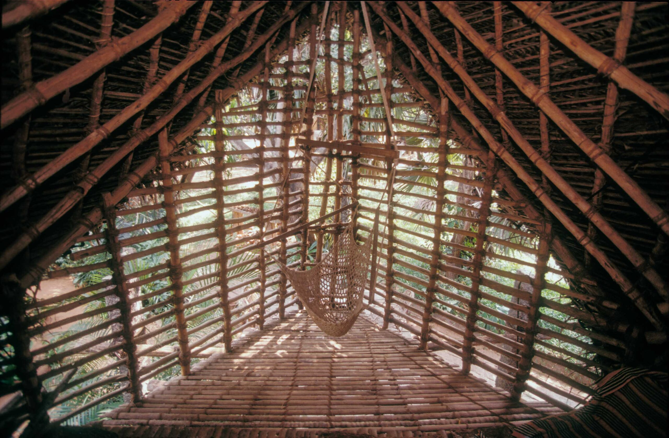 Joists were cut out of really old (around 50 years old) casuarina trees and are far stronger than people expect, at that age. Credit: Andreas-Deffner