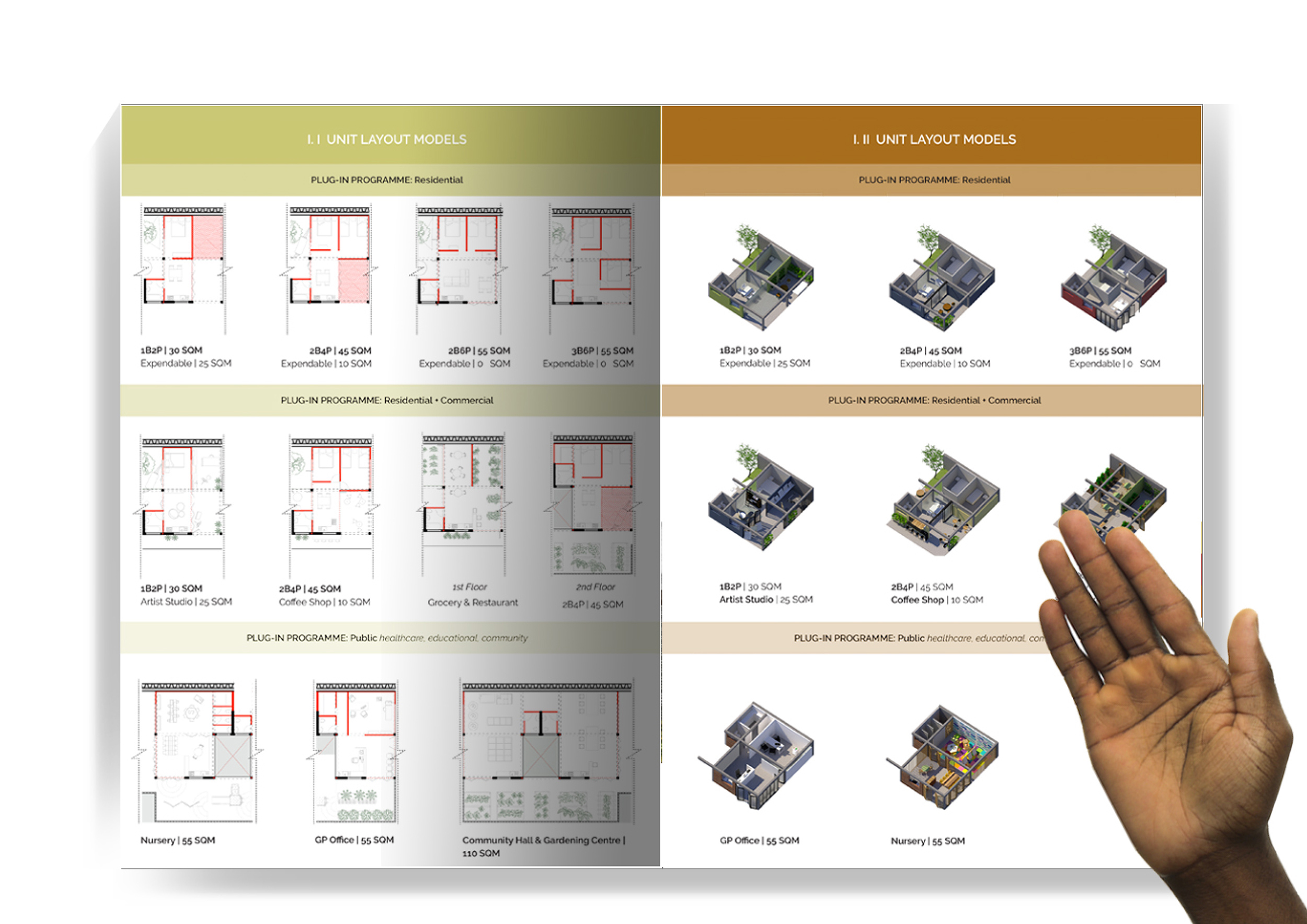 User guide manual: unit layouts and configurations