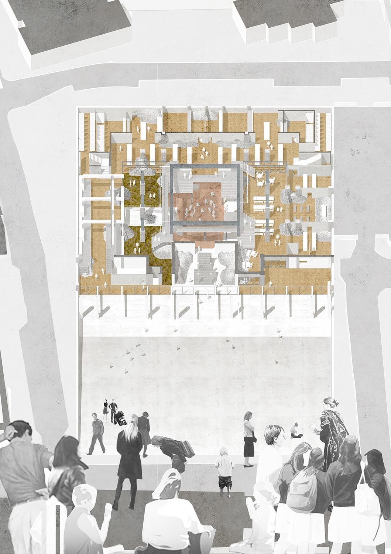 Oblique basement plan