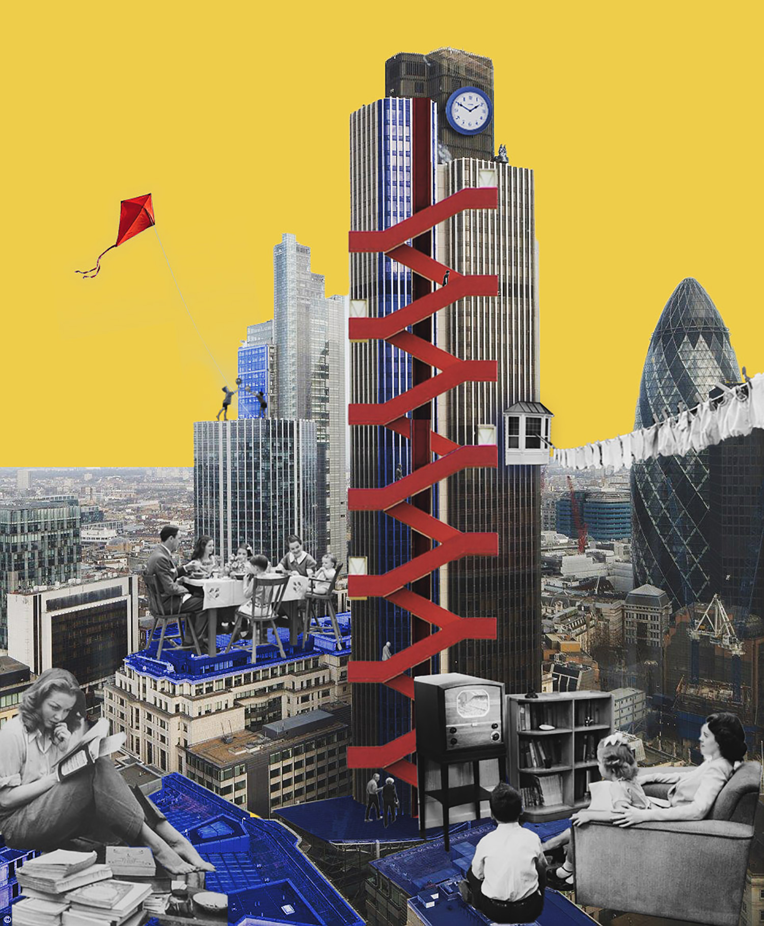 Concept collage – The 'Live-able' City: Home