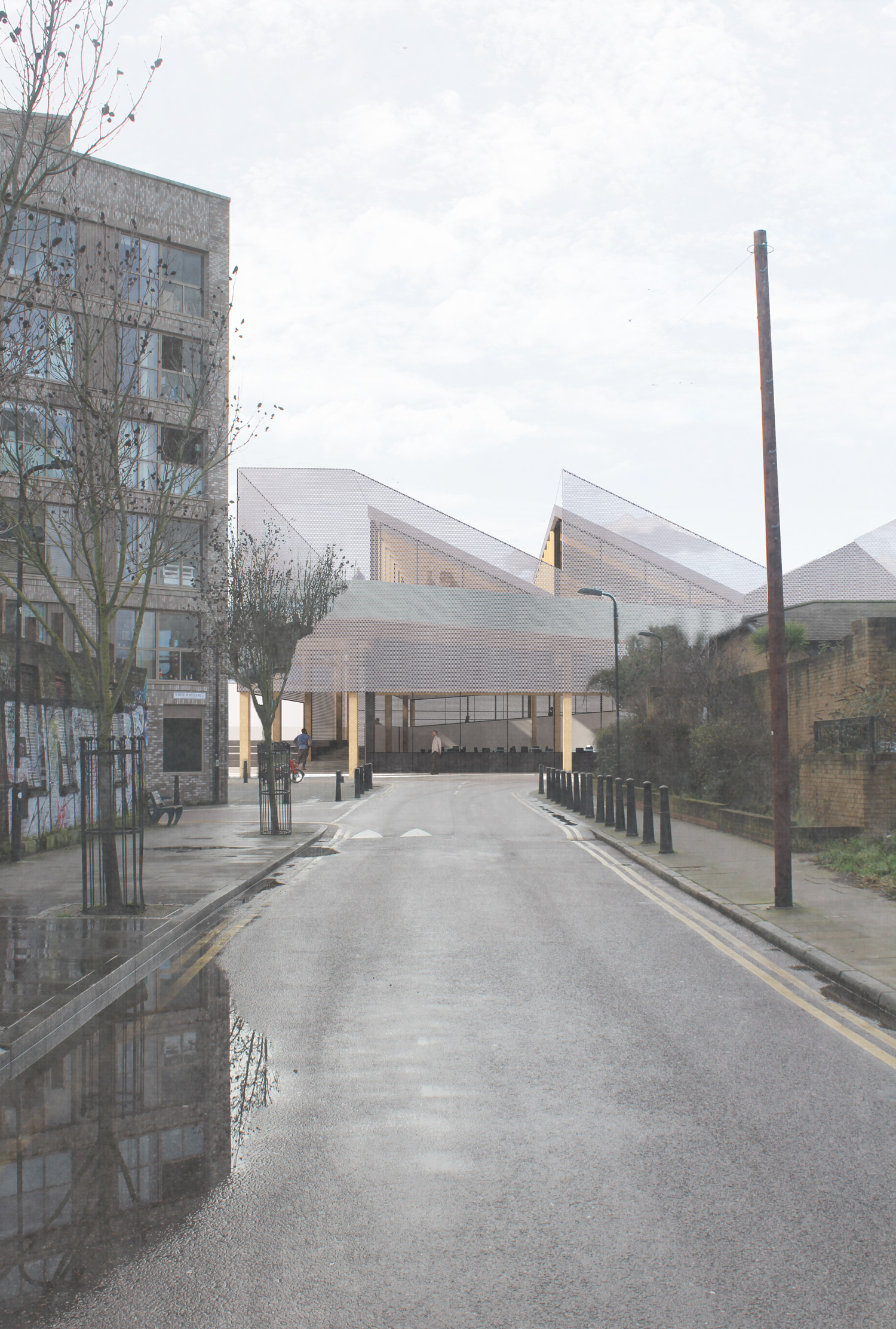 Approach from Hackney Wick town centre
