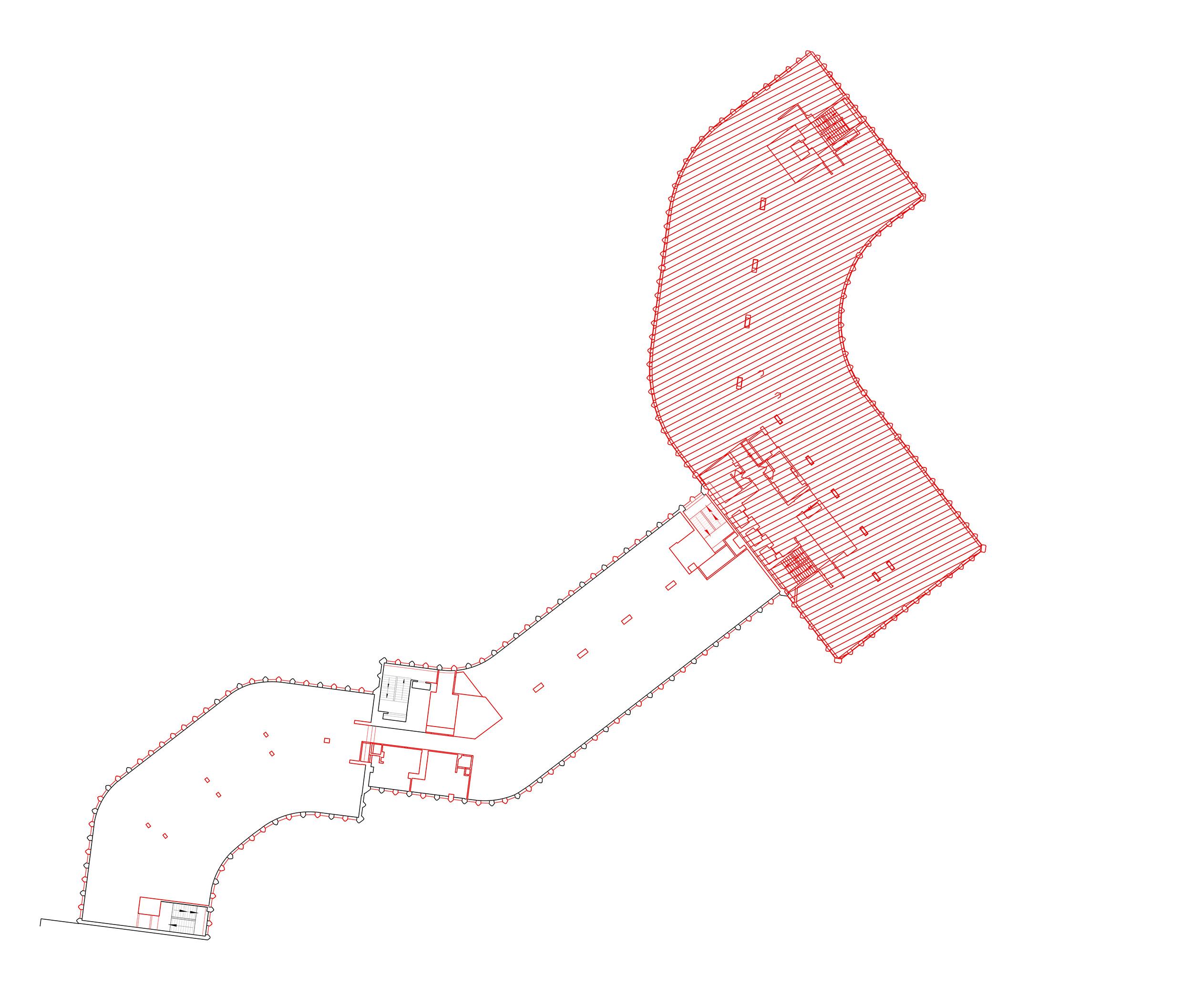 Typical lower floor demolition plan