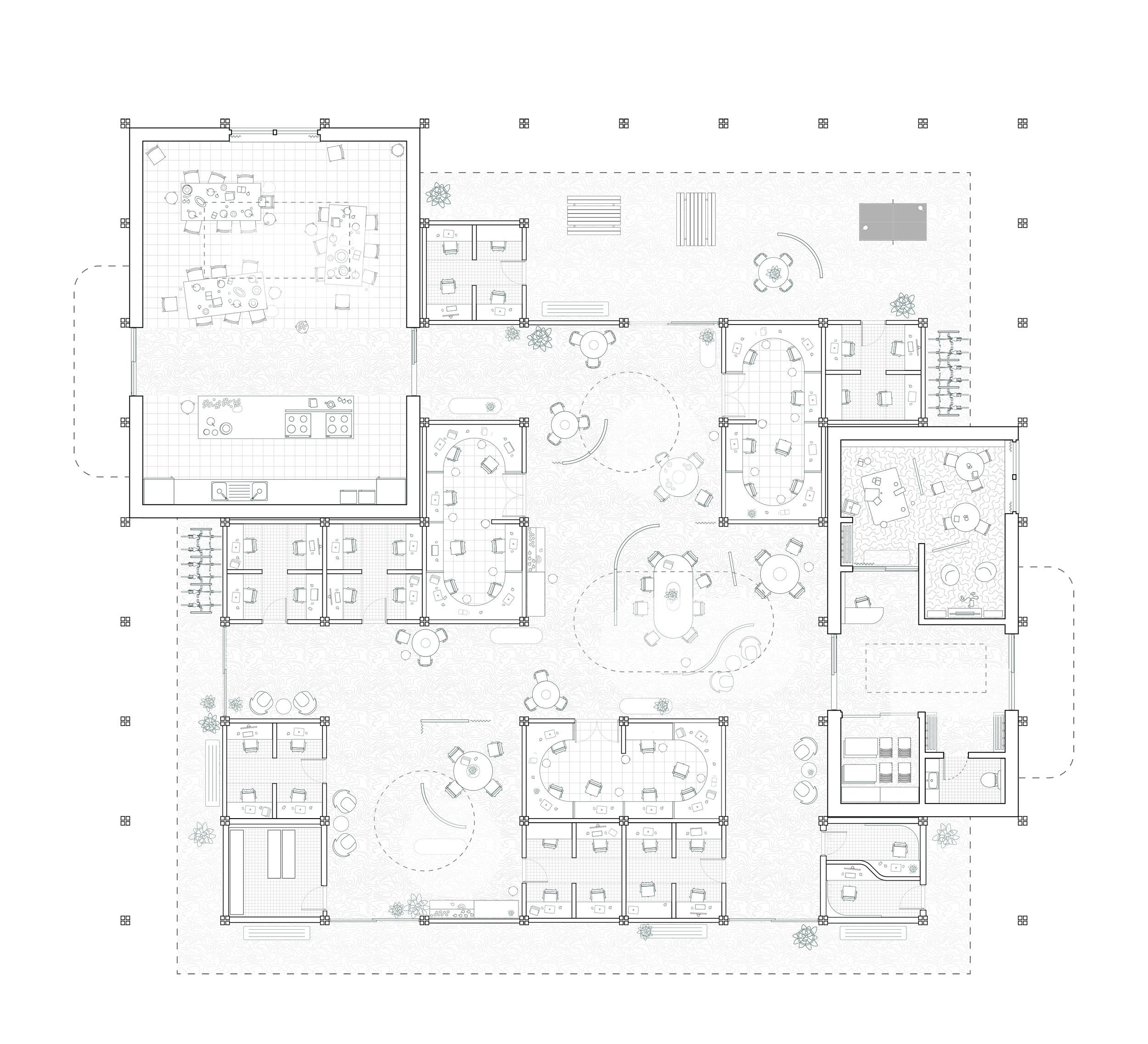 Remote-work centre (plan)