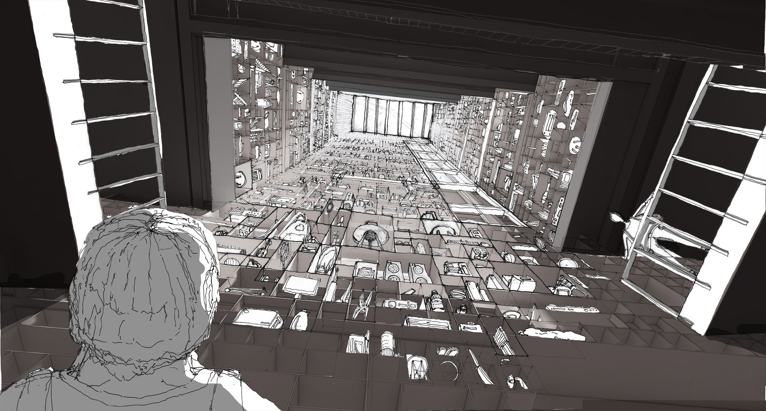 View from base of the tower of the curious everyday
