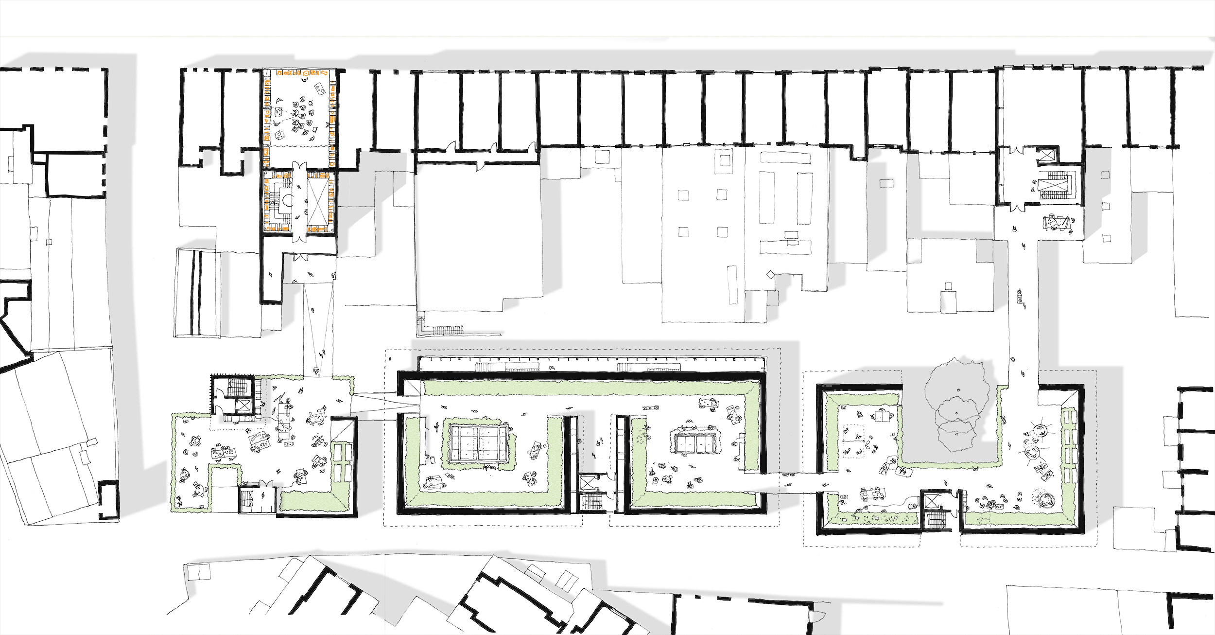 First floor plan – a rooftop for all