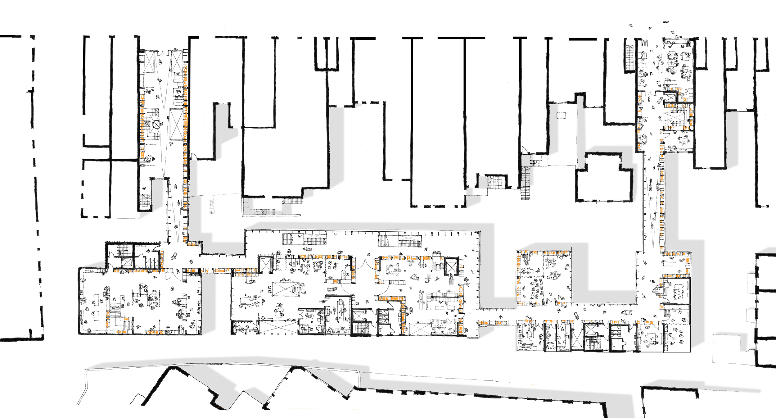 Ground floor plan – connecting to the high street