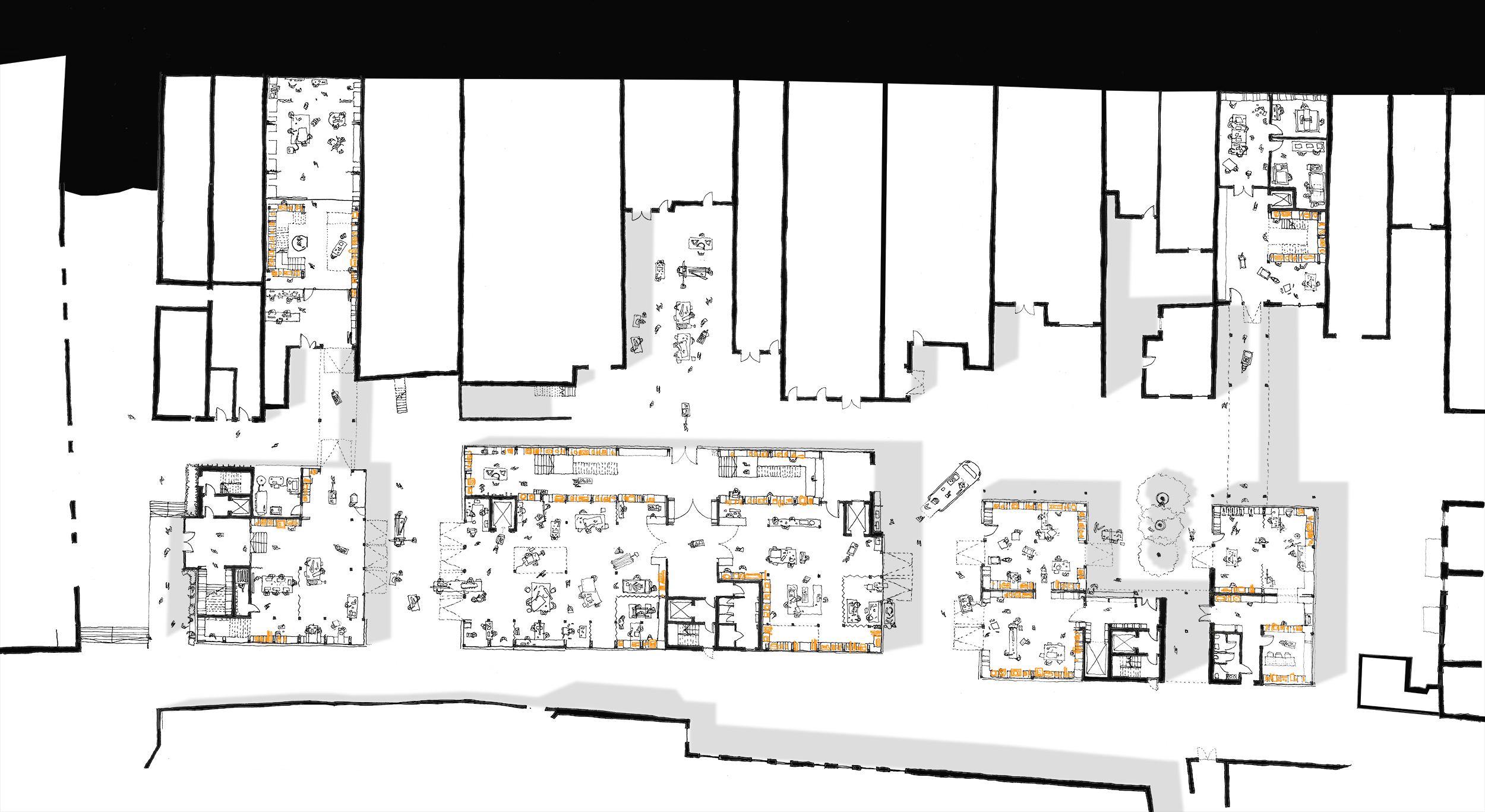 Lower ground floor plan – scaling up repairs
