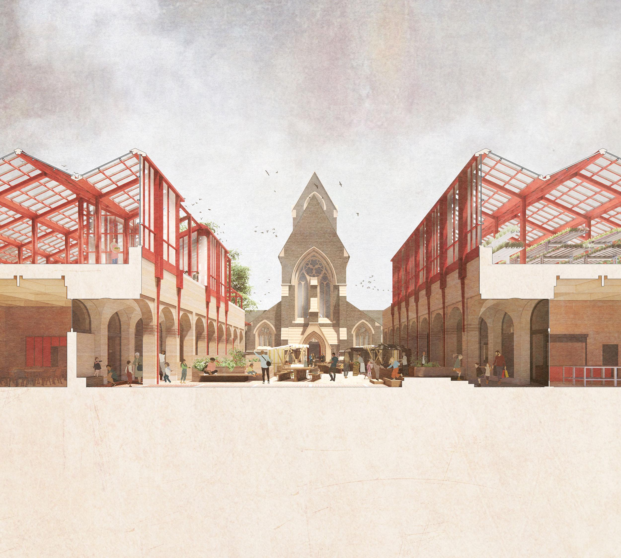 E–W section – St Matthias Square