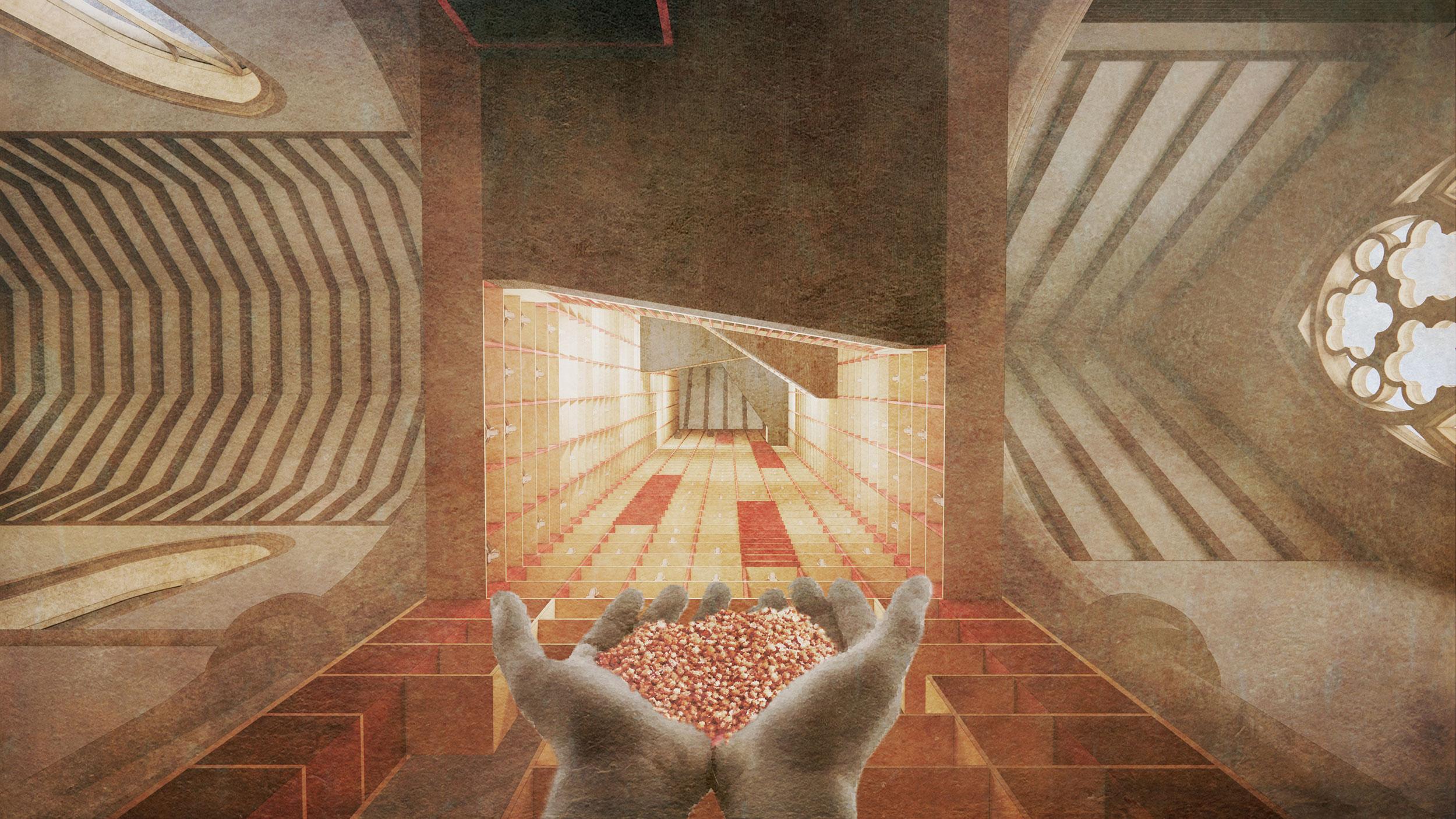 A spiritual moment / seed altar