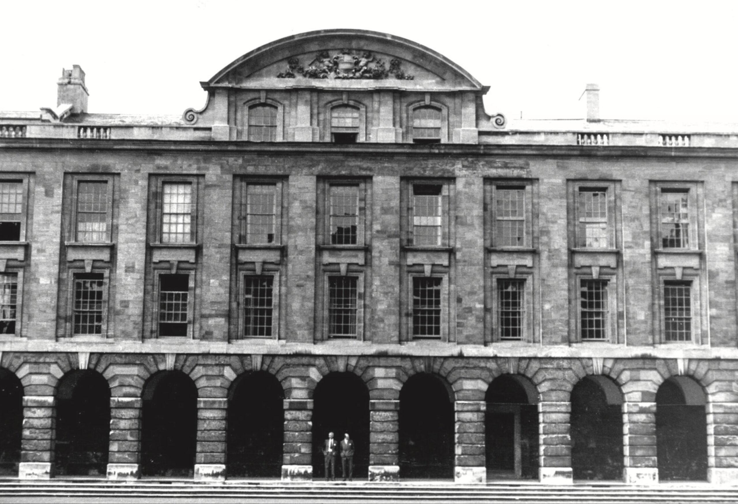 Queens College Quadrangle at the University of Oxford