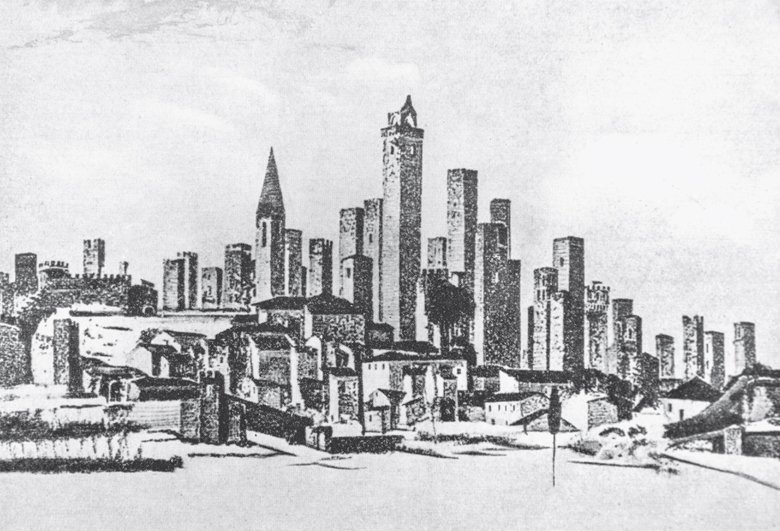 Sketch of San Gimignano