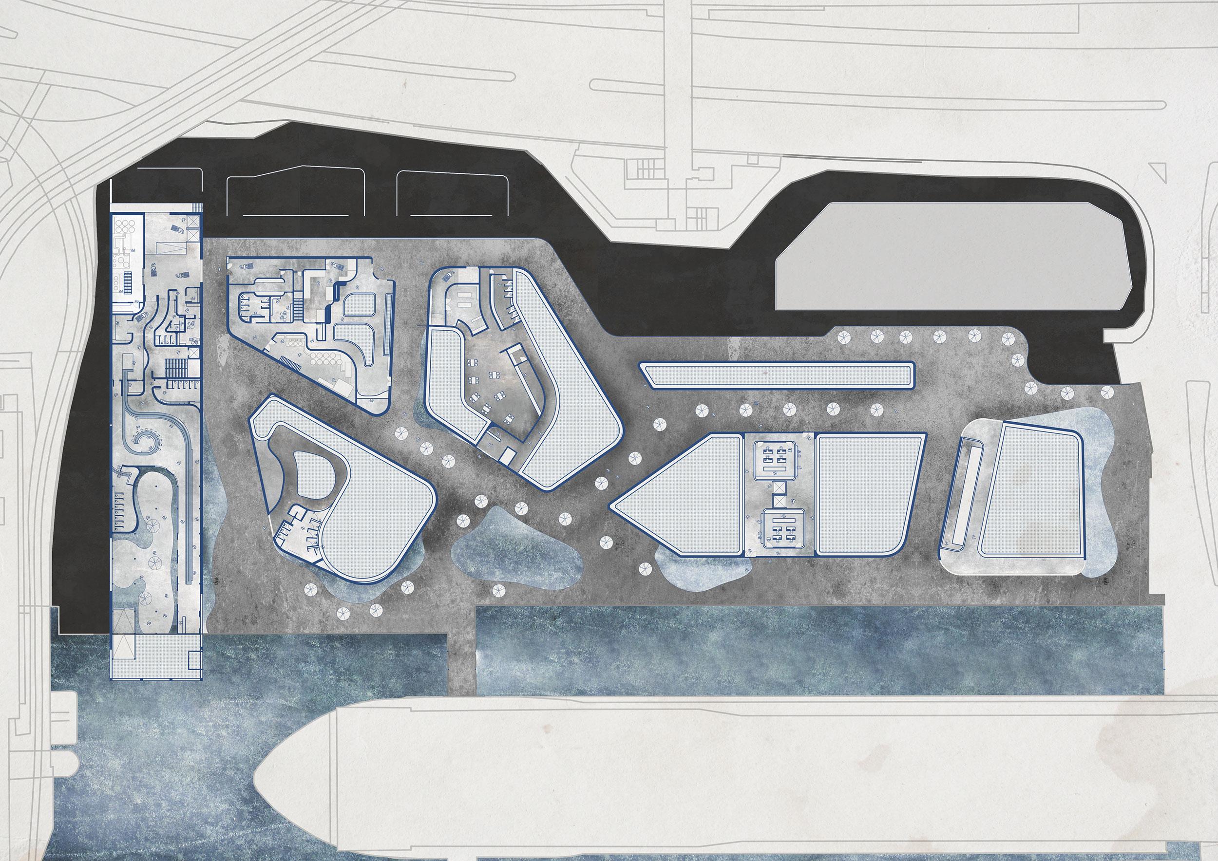 Ground floor plan (west side)