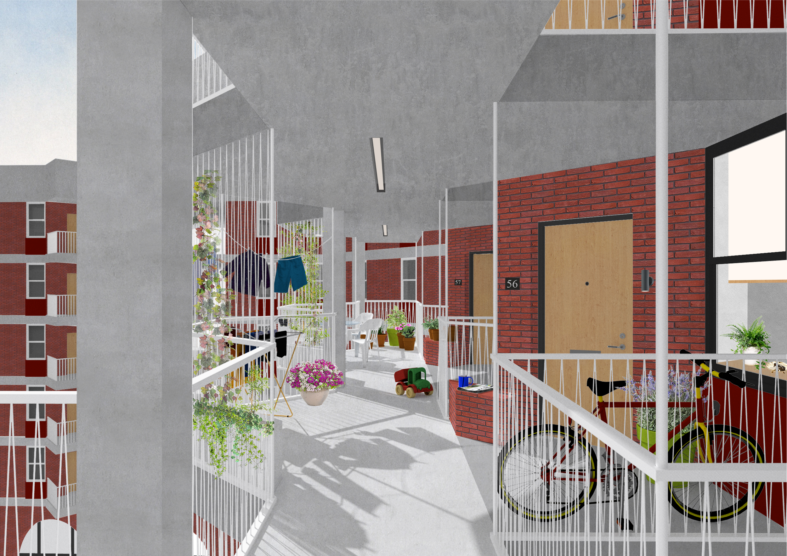 Walkways act as extensions to the home