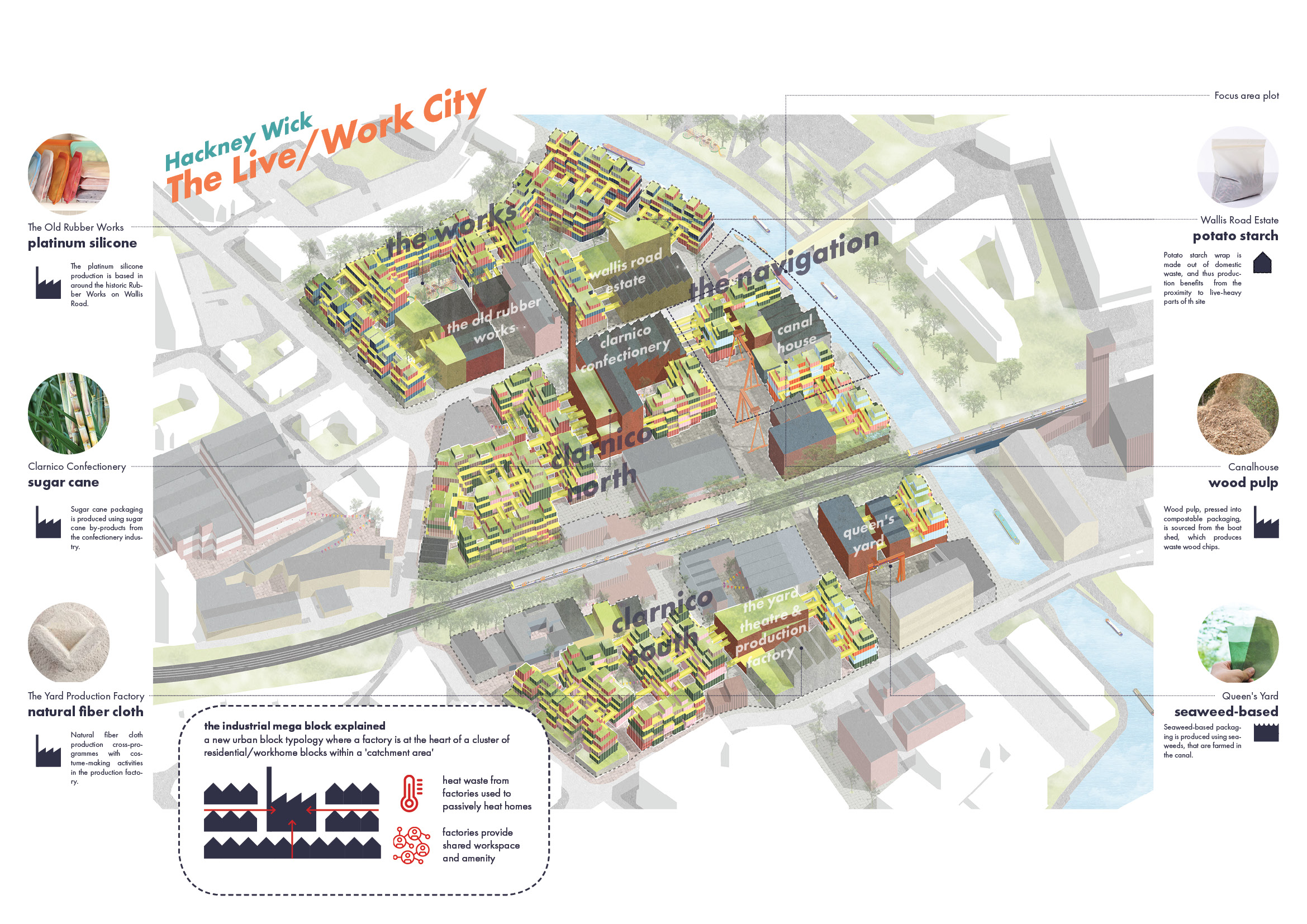 The Live/Work City masterplan drawing