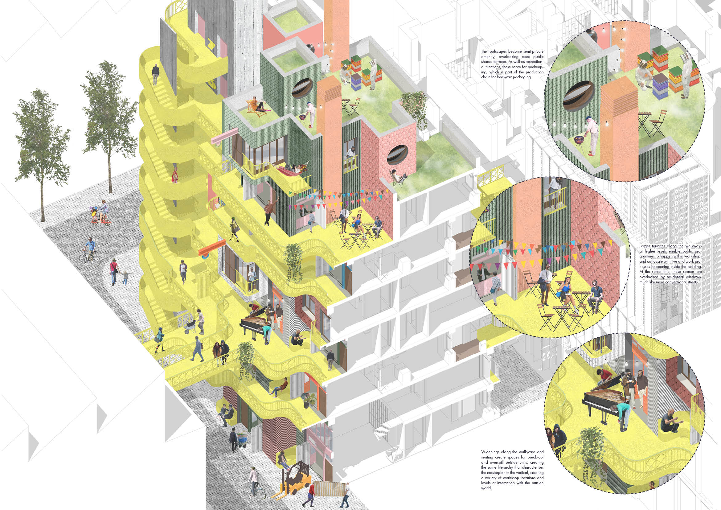 Live-in typology axonometric
