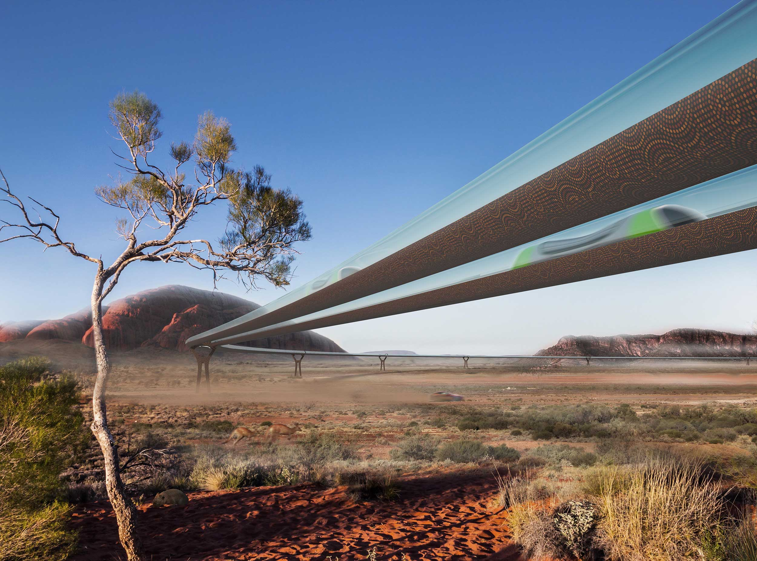 Perth, Adelaide, Melbourne, Sydney and Brisbane could be connected by the Hyperloop, a vacuum tube with a maglev train travelling at 1,000km per hour. The route between Melbourne and Sydney is one of the busiest in the world, with four to five planes per hour at morning and evening peak. The Hyperloop would be a sustainable alternative.