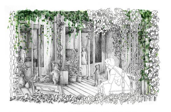 The Rain Garden - Celebrating rainwater through a rain chain facade and projecting wooden decks.