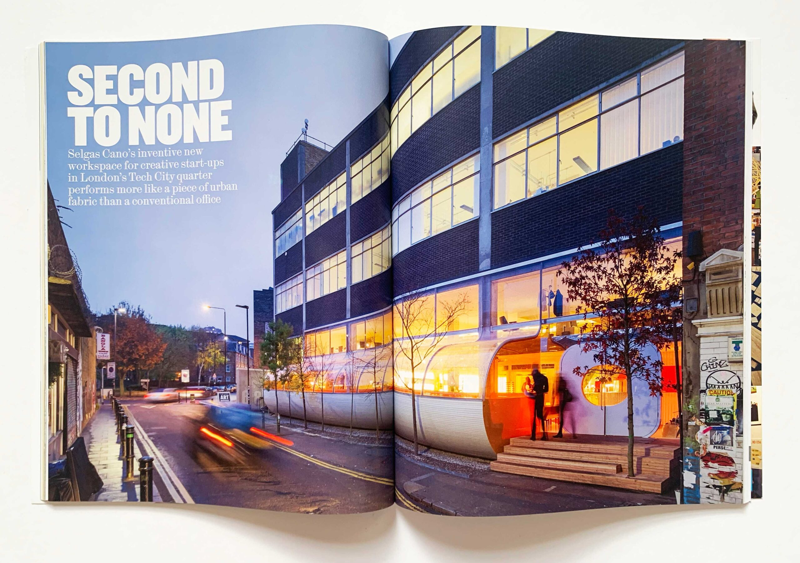 Fig. 10. My review of Second Home in the AR. Co-founded by Rohan Silva and designed by Selgas Cano, the LSA was based there for the 2015/16 academic year, and it was our second home (after Great James Street).