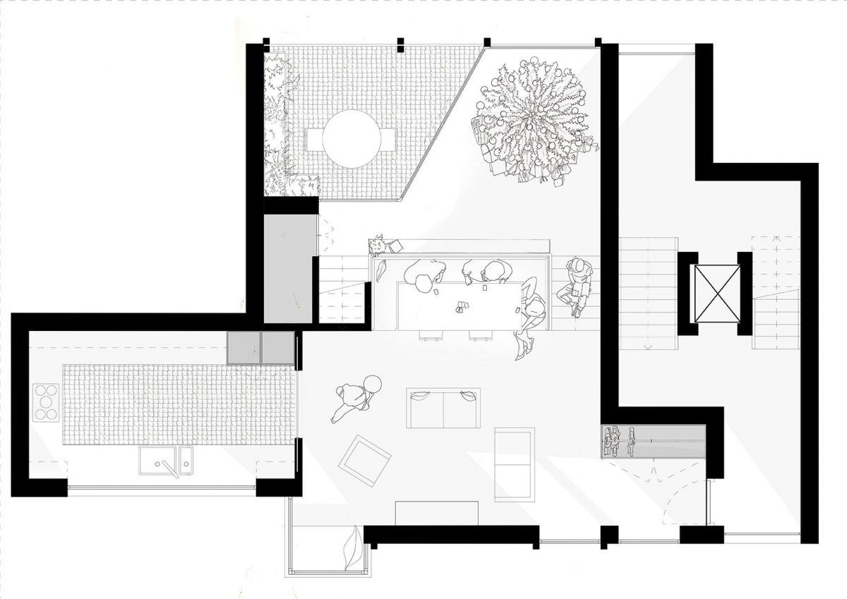 Flexible living space, can change and adapt to different family priorities or times of year