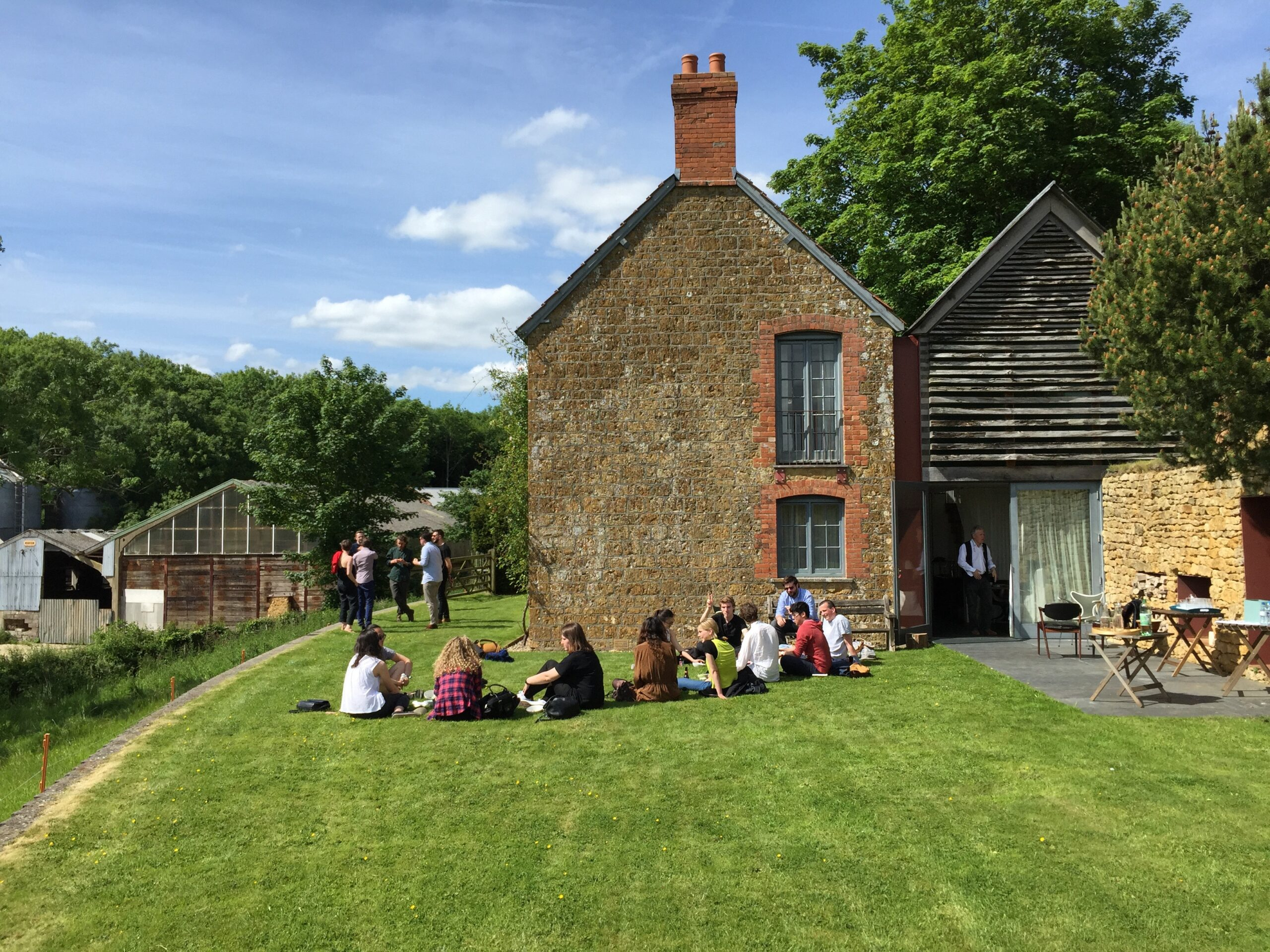 Fig. 27. A visit to Niall Hobhouse's Drawing Matter at Shatwell Farm in Somerset.