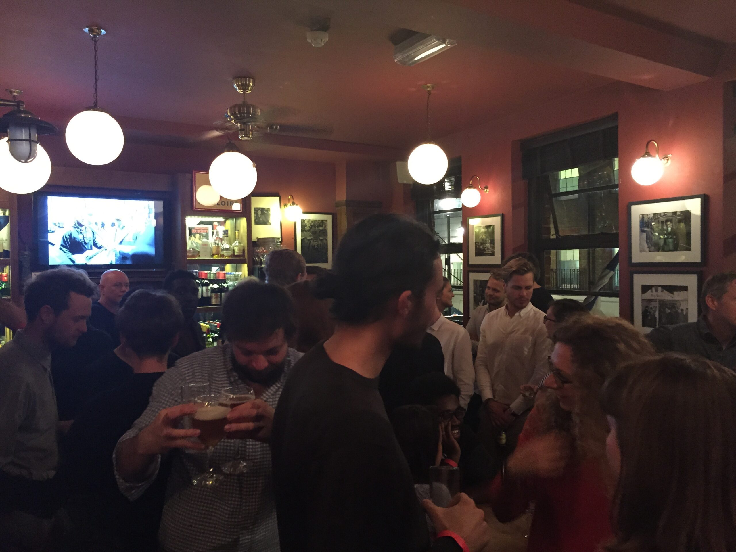 Fig. 35. The walk through Soho culminated with drinks at the French House.