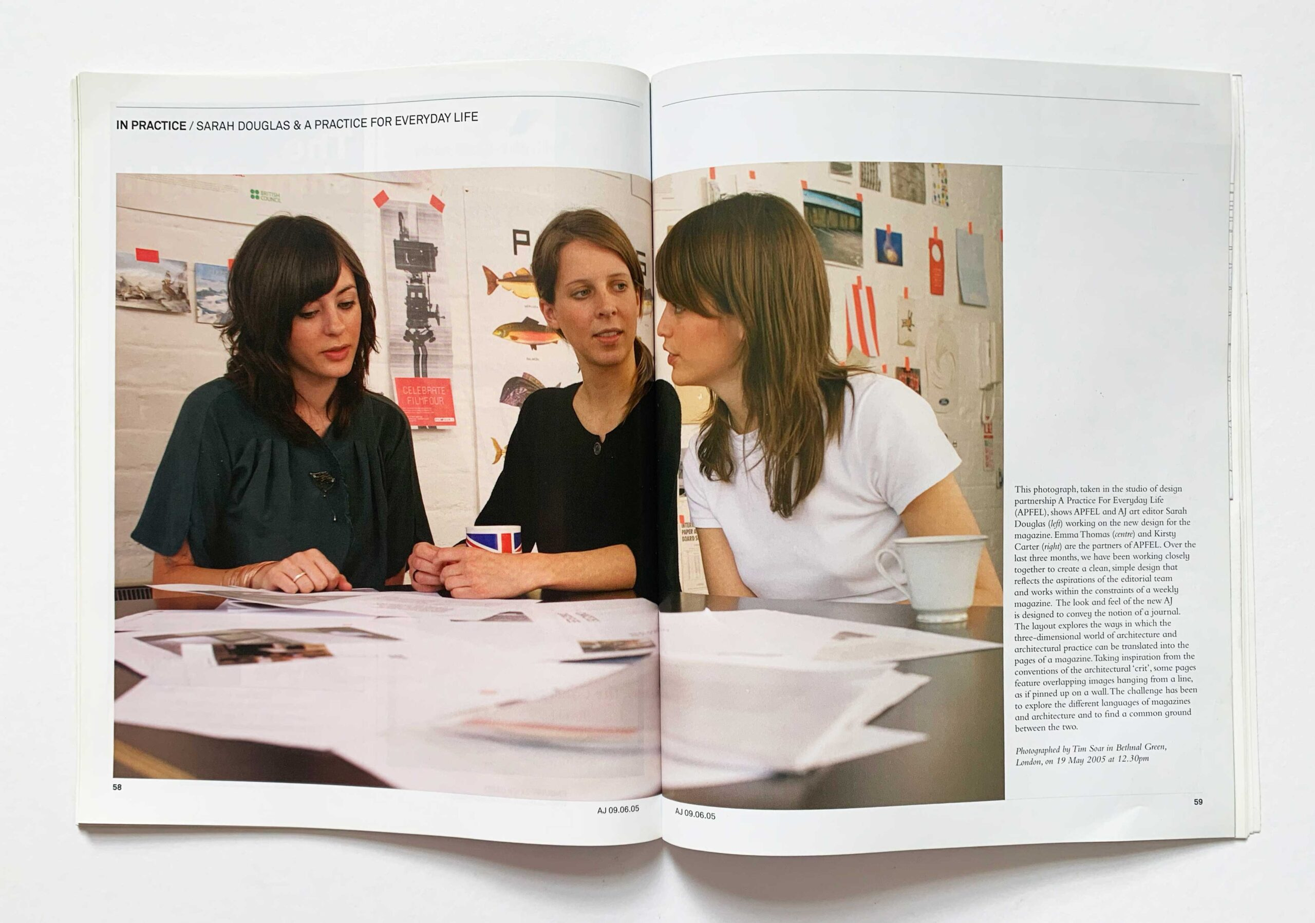 Fig. 6b. The relaunch issue of The Architects' Journal, edited by Isabel Allen, redesigned by Sarah Douglas and Apfel.