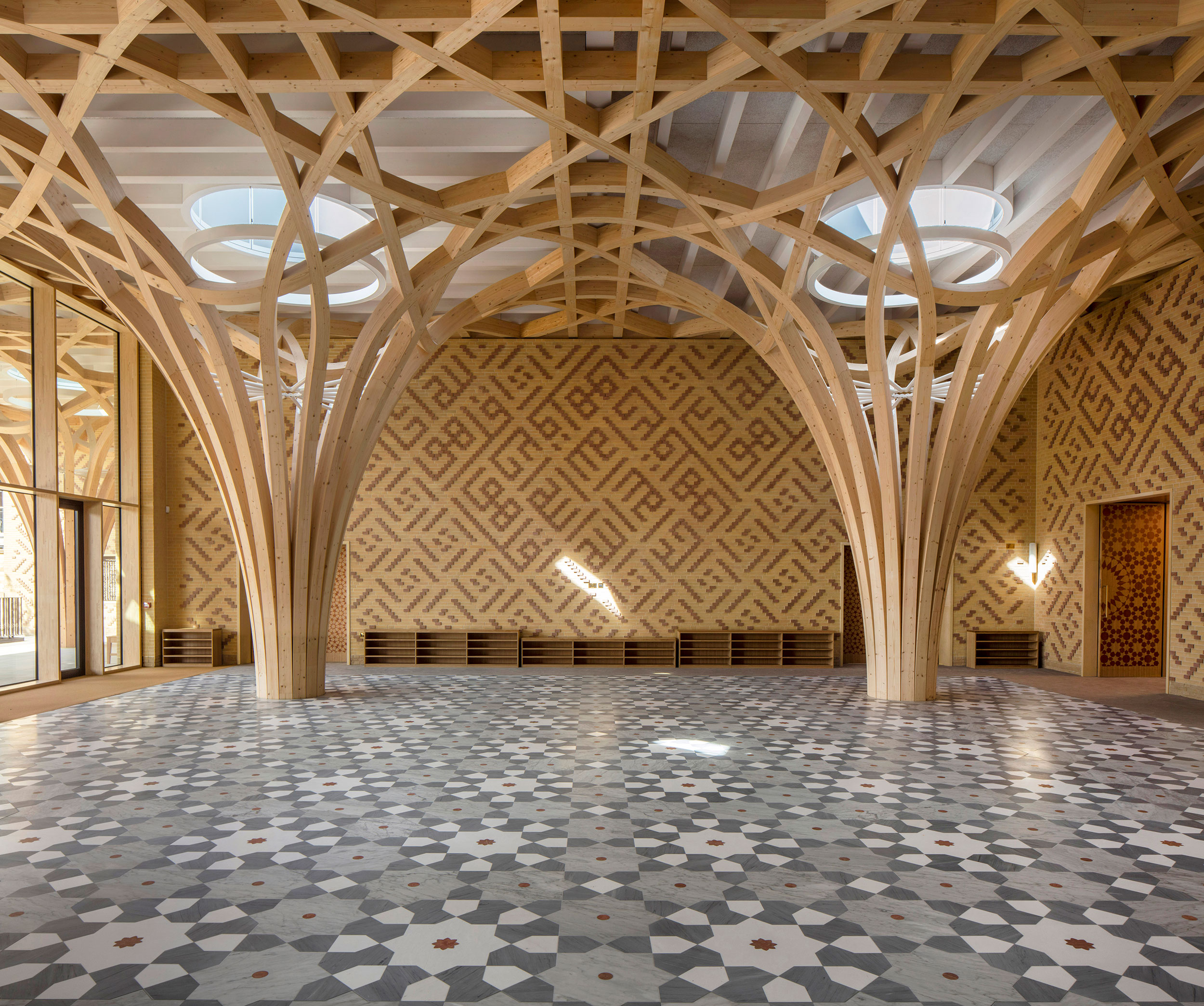 The new Cambridge Mosque, designed by Marks Barfield, is explicit in not following any school of Islam and actively trying to serve as a cultural bridge between communities. (Courtesy Morley von Sternberg)