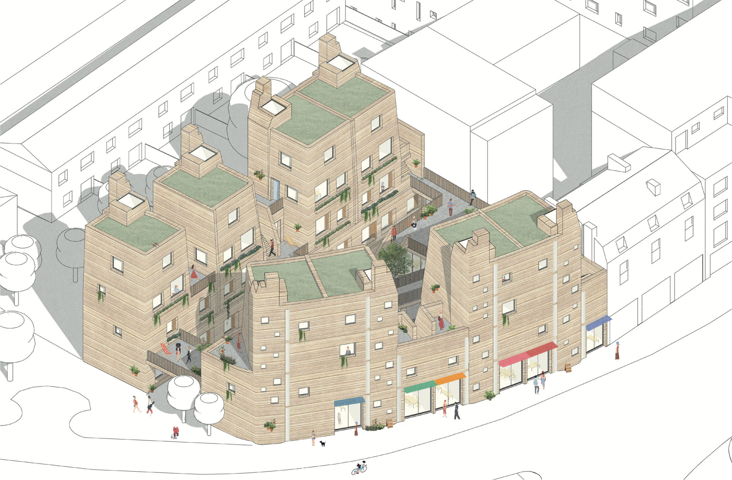 Case study proposal for an underused garage site close to the Lea Bridge roundabout.